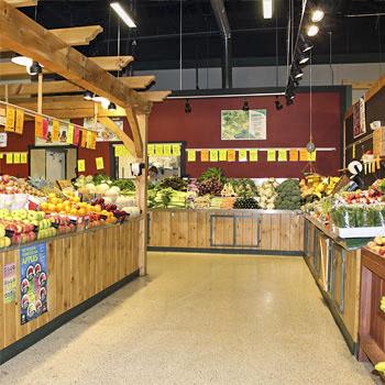 Fresh amish produce market