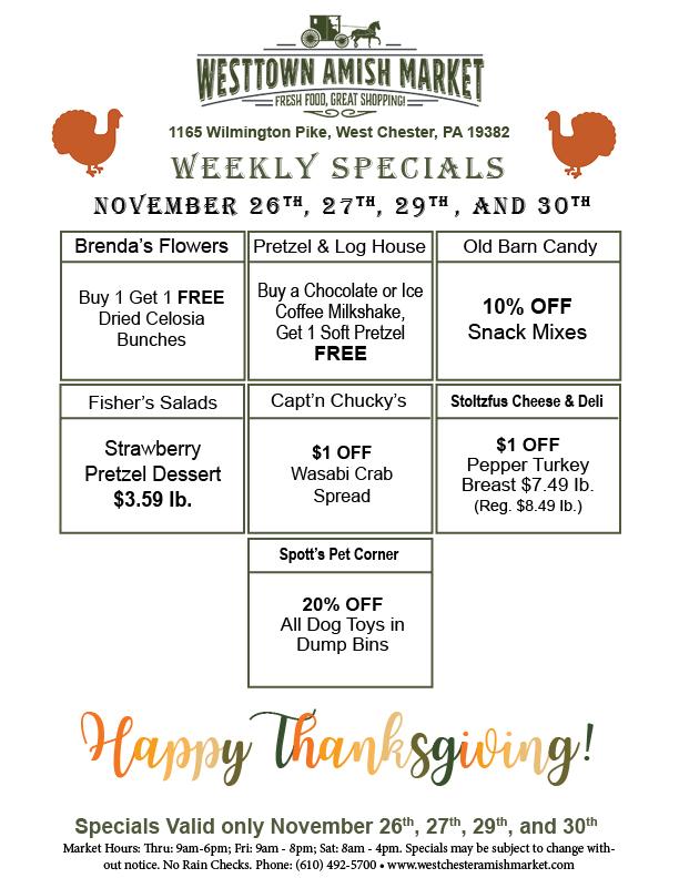 Weekly Specials Westtown Amish Market